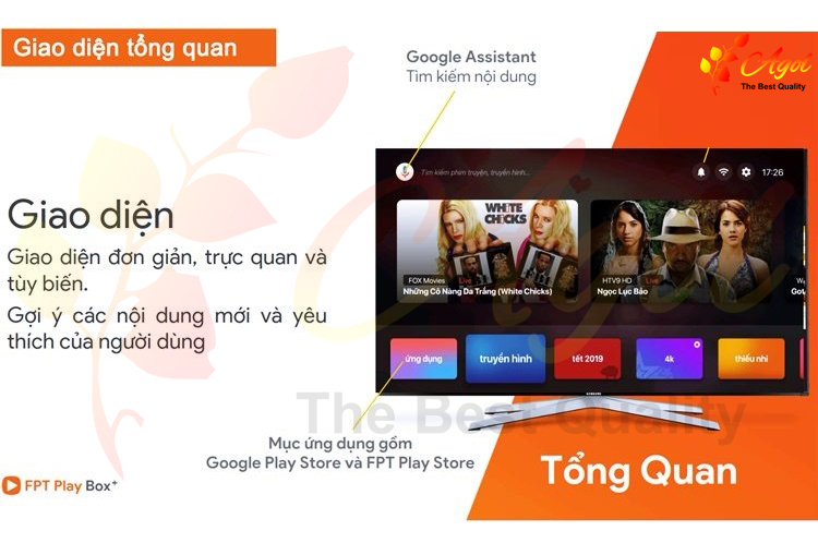 giao diện fpt tv box