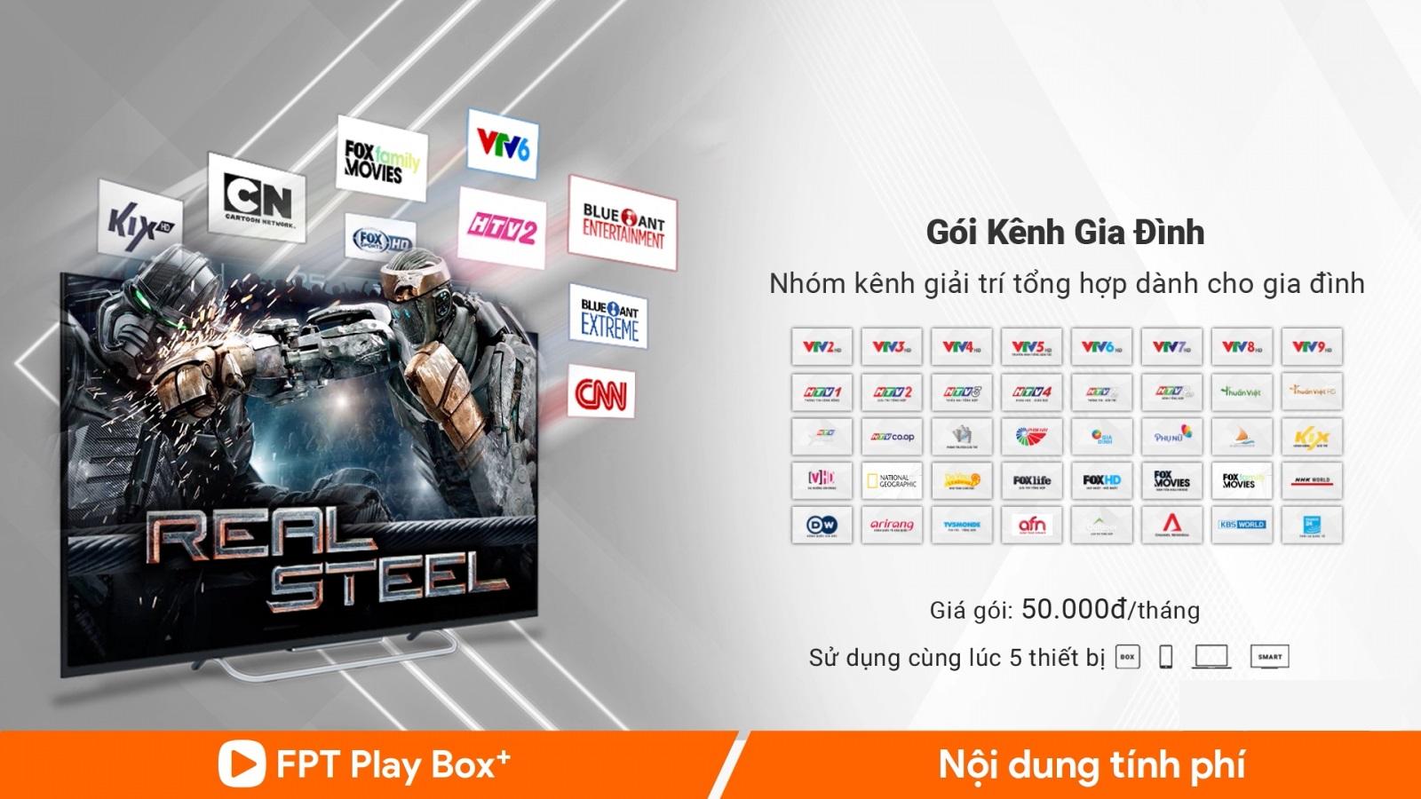 Gói kênh gia đình trên FPT Play Box