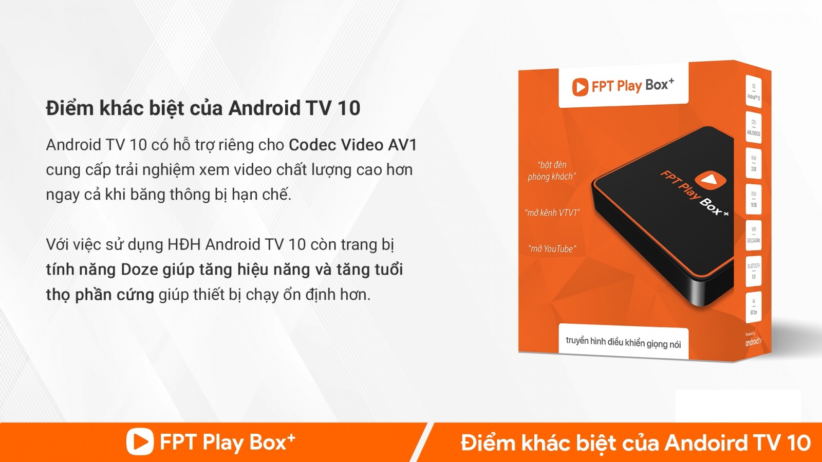 FPT Play Box chạy Android TV 10