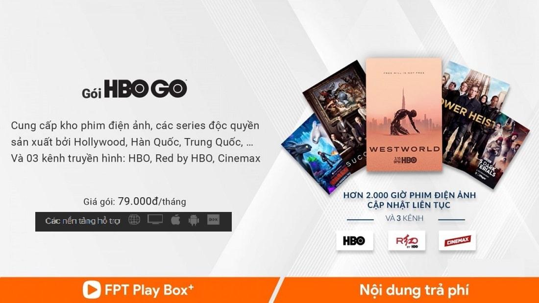 Mua gói Vip FPT Play Box
