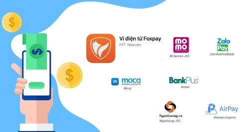 Thanh toán cước FPT bằng Ví điện tử